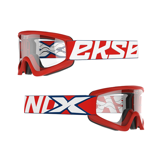 GOX Flatout Goggle Red/White/Blue