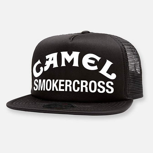 CAMEL SMOKERCROSS HAT BLACK WHITE LOGO
