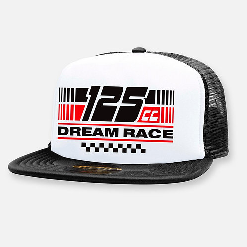 125 DREAM RACE HAT BLACK/WHITE