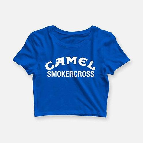 WOMENS CAMEL SMOKERCROSS CROP TEE
