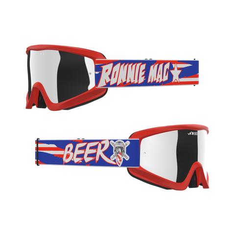 EKS Brand Beer Goggle Ronnie Mac 69 2.0 with Iridium Lens