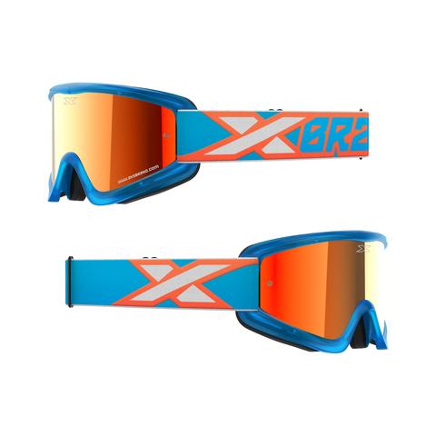 GOX Flatout Iridium Goggle Cyan/Flo Orange/White