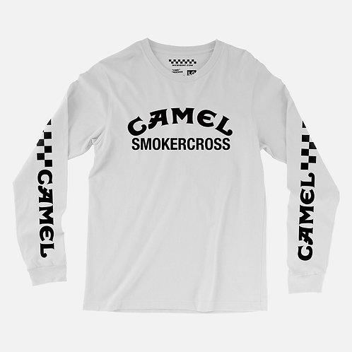 CAMEL SMOKERCROSS L/S TEE WHITE
