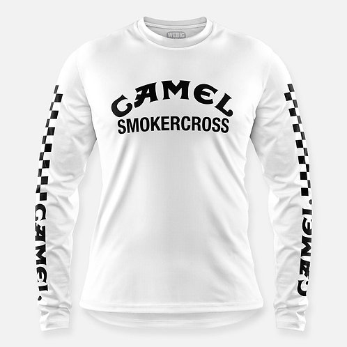 CAMEL SMOKERCROSS JERSEY WHITE