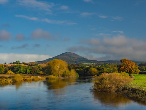 Handmade Canvas - The Wrekin from The River Severn