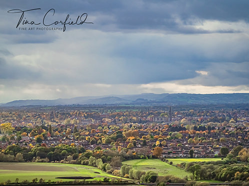 A3 Print - Haughmond Hill Viewpoint over Shrewsbury