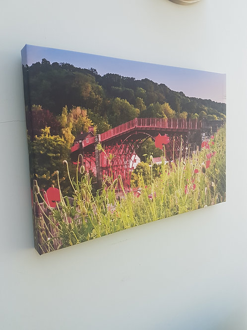 Ironbridge with Poppies