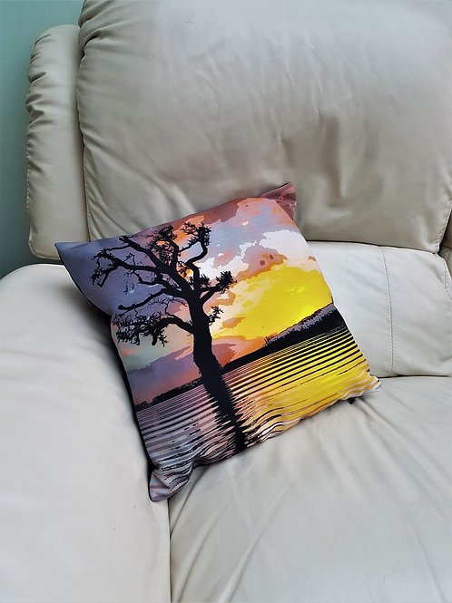 Linen Cushion - Landscape Reflections
