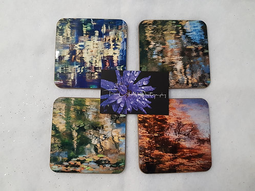 Set of 4 Impressionist Reflections Coasters
