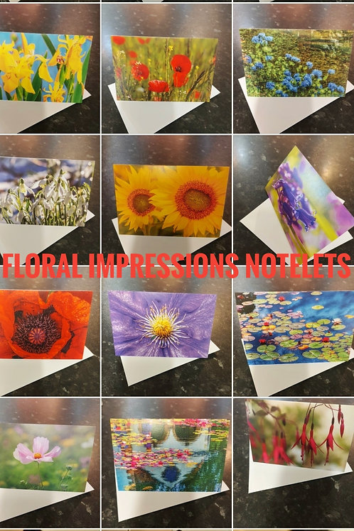 Floral Impressions Notelets/ Greetings Cards