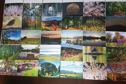 Pack of 10 Landscape Impressions of Shropshire Greetings Cards