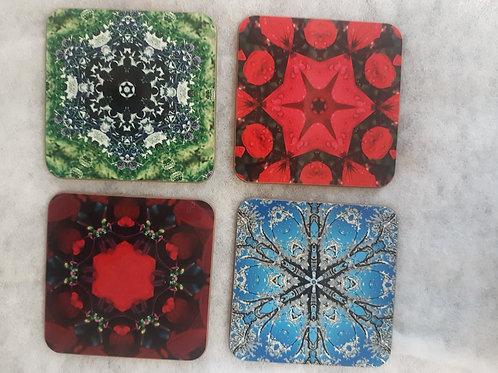 Set of 4 Botanical Coasters