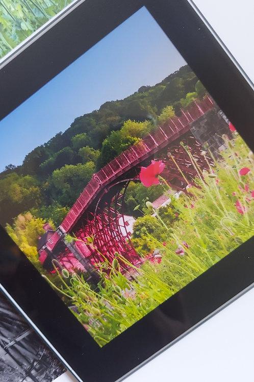 Glass Coaster- Ironbridge With Poppies