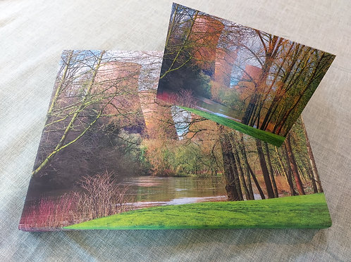 Handmade Canvas Print - Ironbridge Power Station  Reflections, Telford, Shropsh