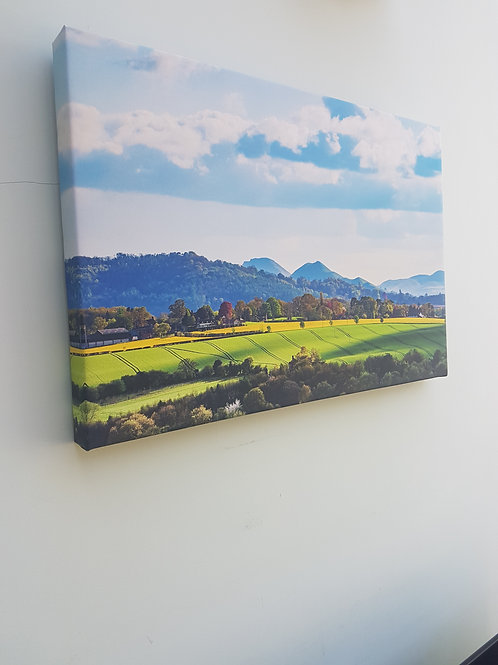 Handmade Canvas Print- Shropshire Hills in Spring