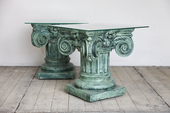 Pair Capital Side Tables