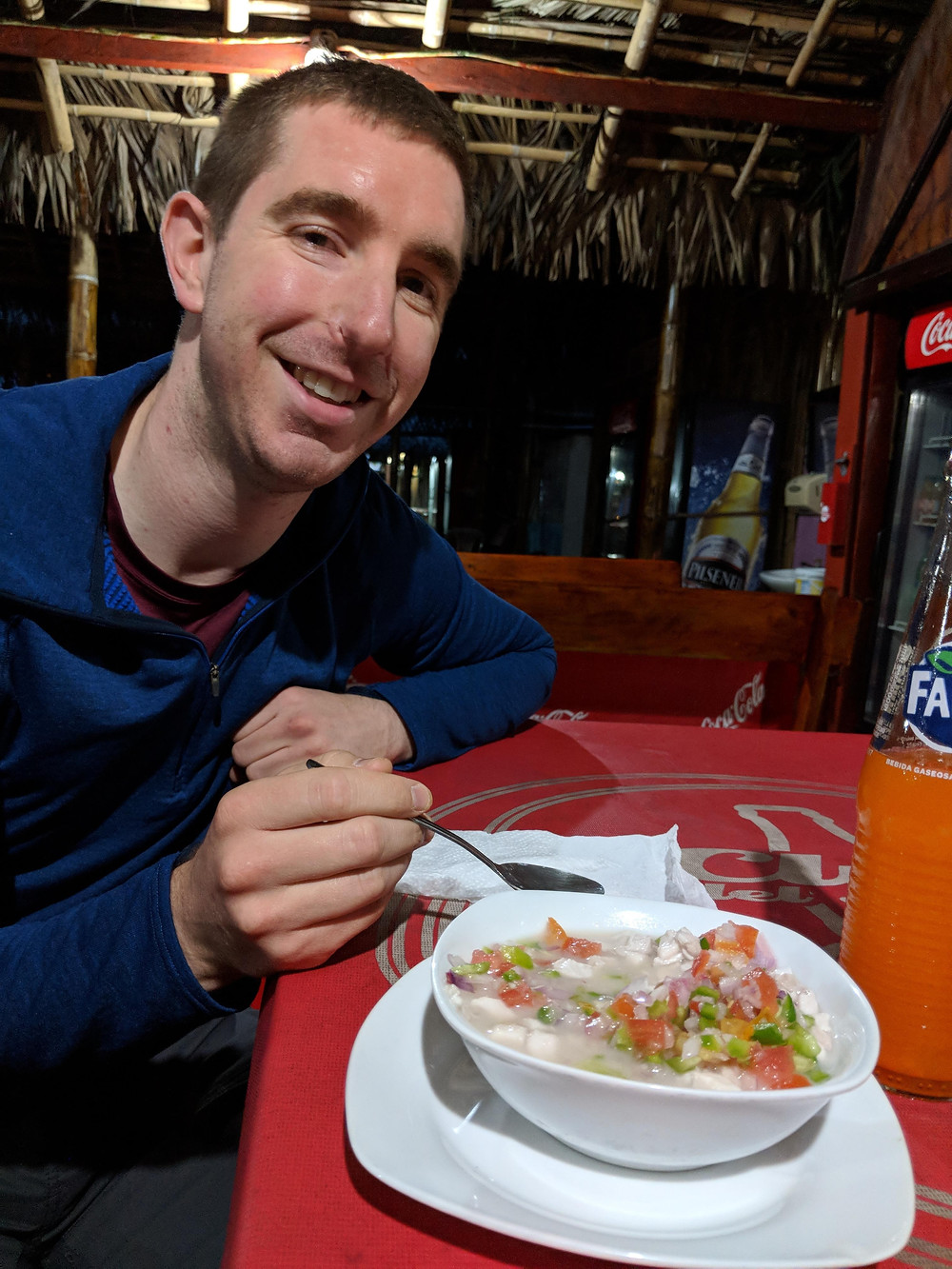 We got to try the local ceviche!