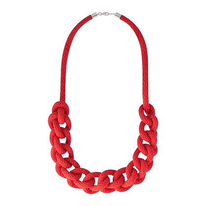 Red Coral Rope Necklace