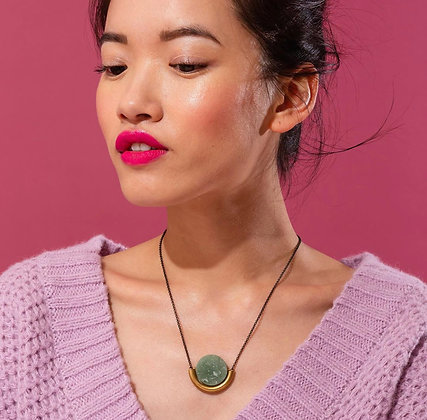 Sun & Moon Necklace Amethyst