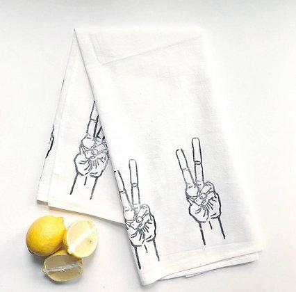 Give Yourself A Hand - 'Peace Out' Tea Towel