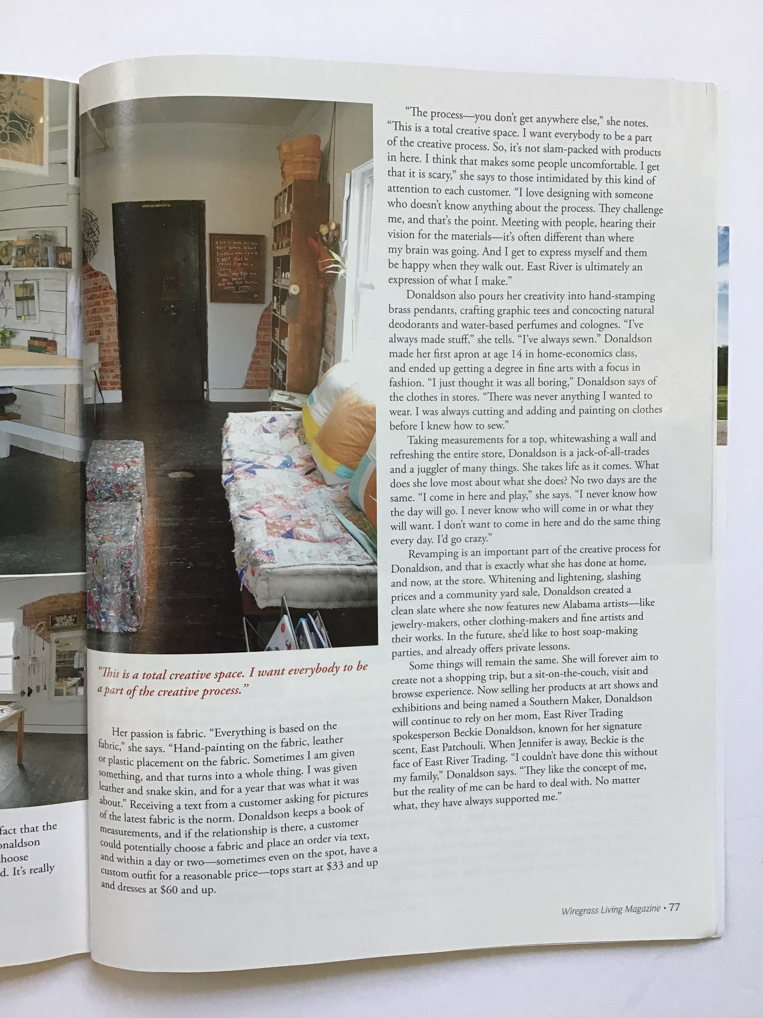 Wiregrass Living Magazine Article