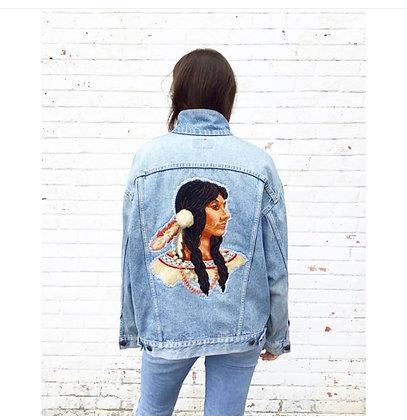 Hand Embroidered Denim Jacket
