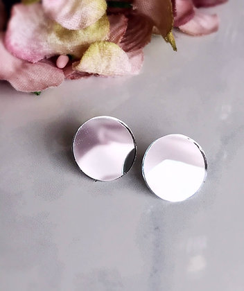 mirror stud earrings