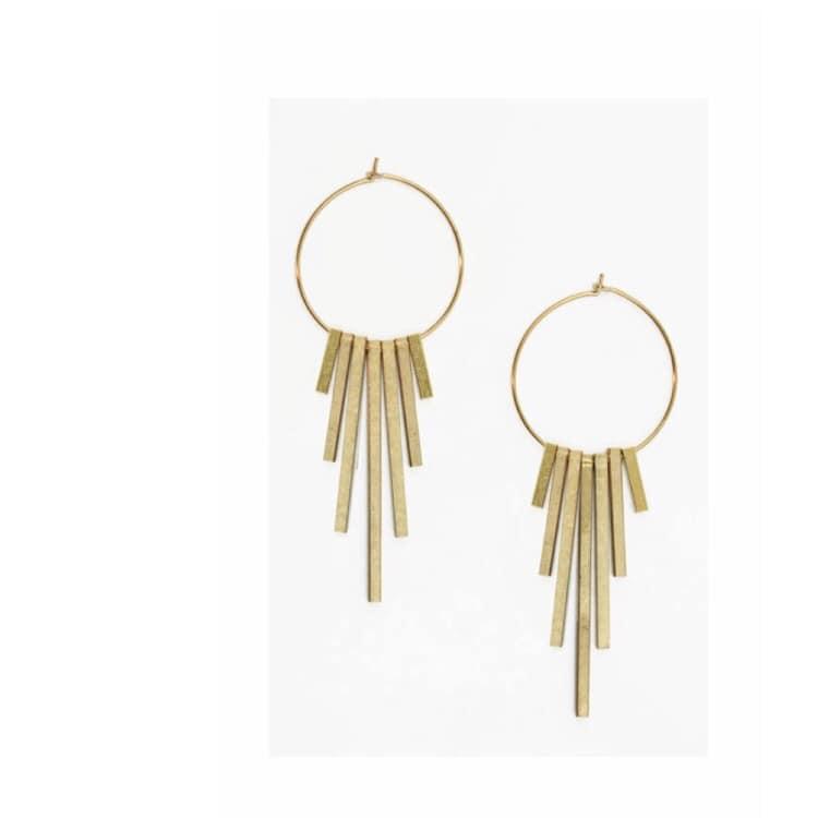 Brass Sand Earrings