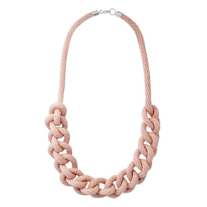 Pink Rope Necklace