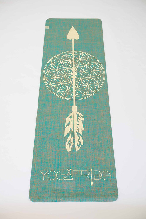 Jute Organic YogaTribe 100% Eco Yoga Mat - Flower of Life