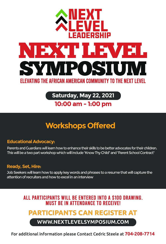 Next Level Leadership Symposium, Charlotte NC