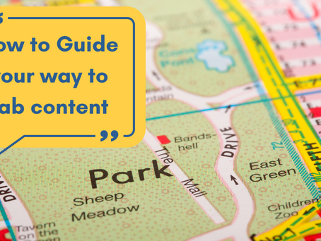 How to Guide your way to content success