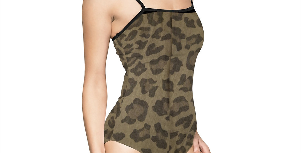 Striping Women's One-piece Swimsuit