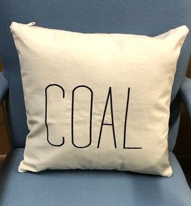 Coal Canvas Pillow Cover A-002
