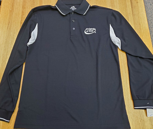 Tri- Mountain Action Long Sleeve Polo M-118LS