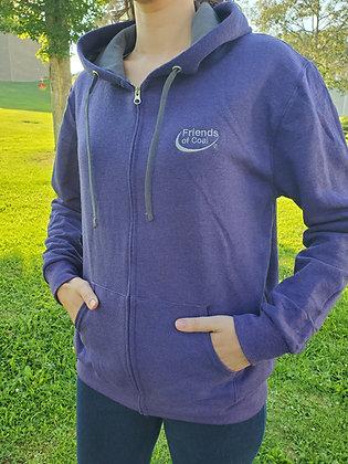 Fruit of the Loom Ladies' Full-Zip Hooded Sweatshirt LSF73R