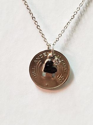 N24-Hill Anderson Coal Co 5 Cent Scrip (Willis Branch) w/ Coal Heart & Swarovski