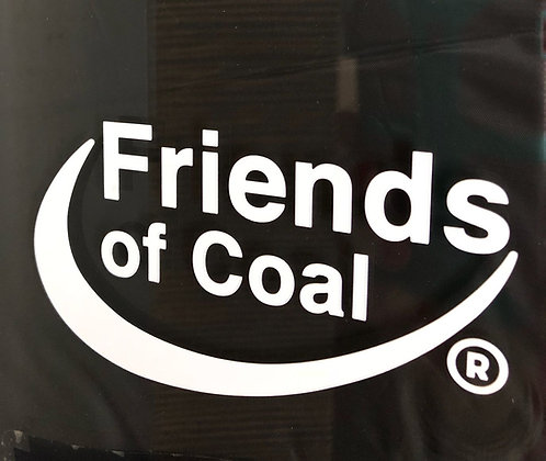 Friends of Coal Cut Out Sticker  A-FOC