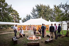 fire pit wedding