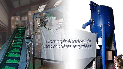 Homogénéisation de matières plastiques recyclées