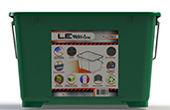 Seau à peinture 7L en plastique décoré avec une étiquette IML