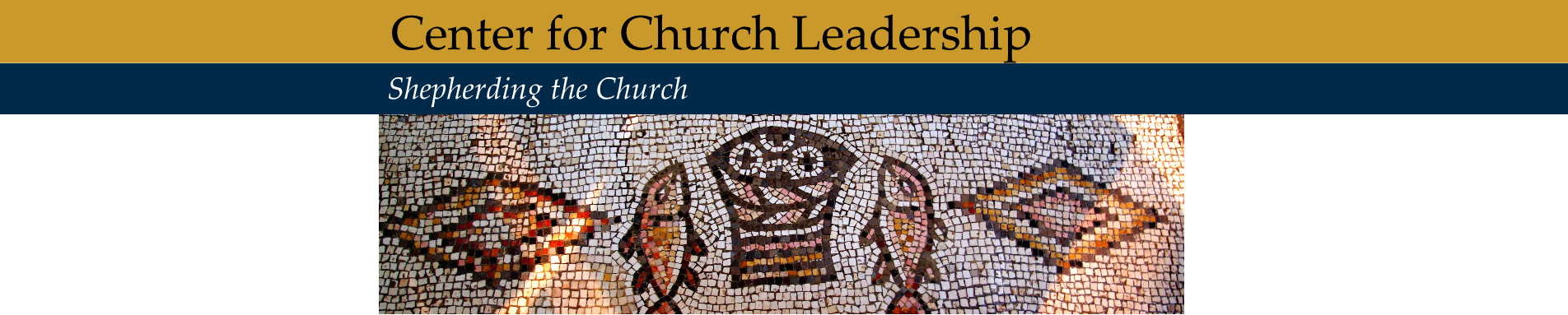 center for church leadership banner