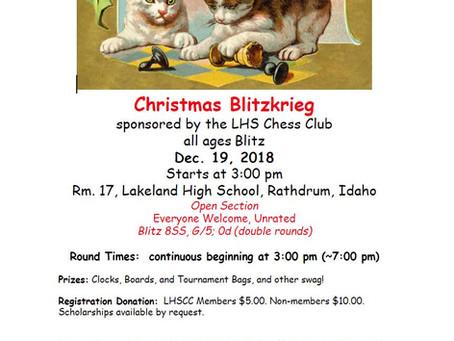 2018 Lakeland High School Chess Club Christmas Blitzkrieg