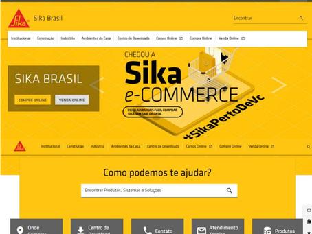 SIKA ATUALIZA SITE OFICIAL COM DIRECIONAMENTO PARA SEU E-COMMERCE
