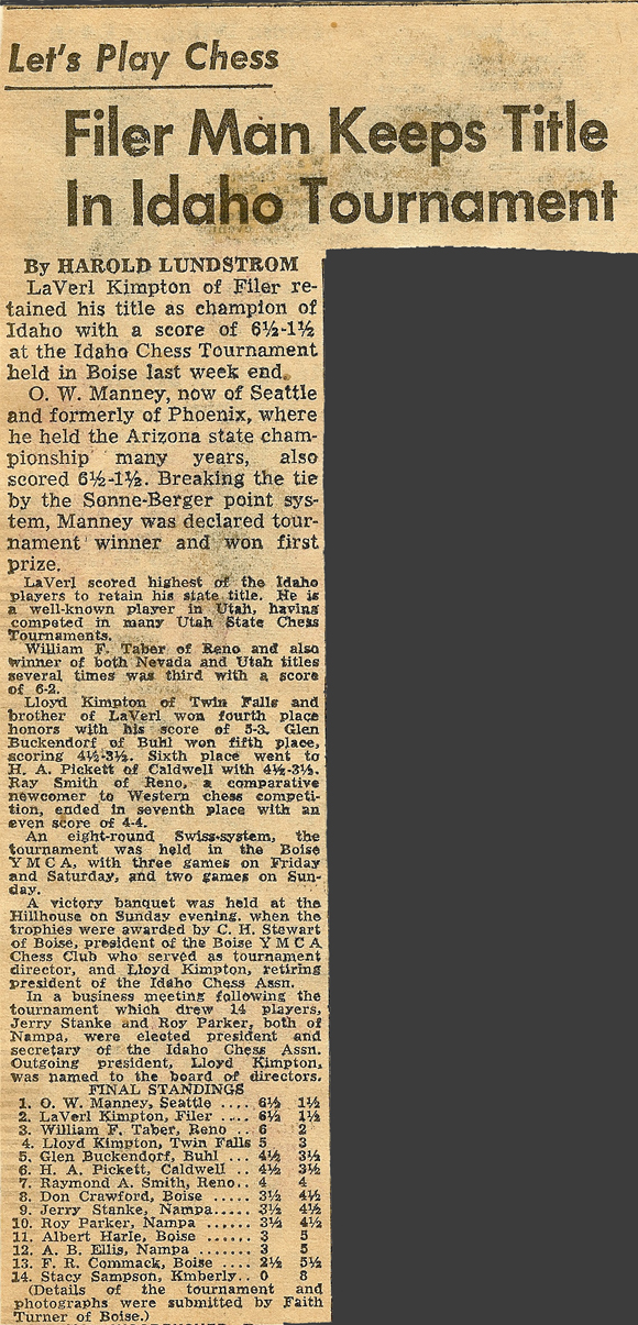 1953 Idaho Open Article