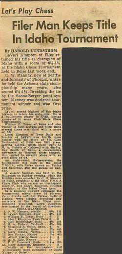 1953 Idaho Open Article