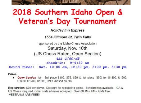 2018 Veteran's Day Tournament