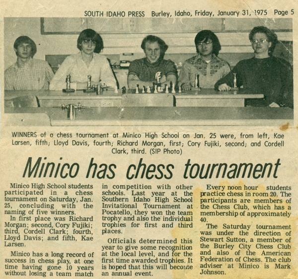 Minico Chess Tournament 1975