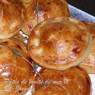 Petits pâtés  aux fruits de mer et Noix de St-Jacques