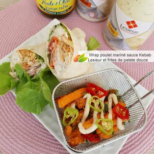 JEU CONCOURS LESIEUR & Wrap au poulet mariné sauce Kebab Lesieur et frites de patate douce